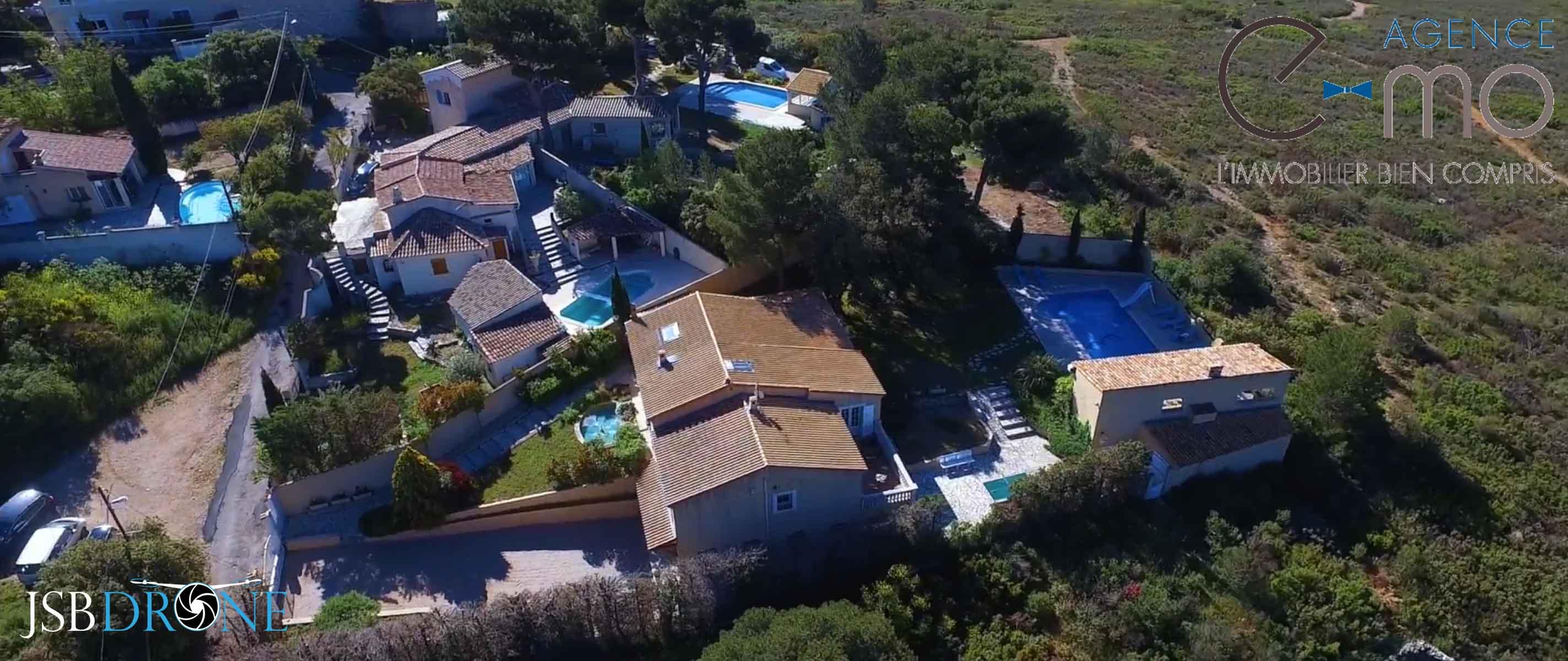 e-mo vue en drone maison T5 marseille