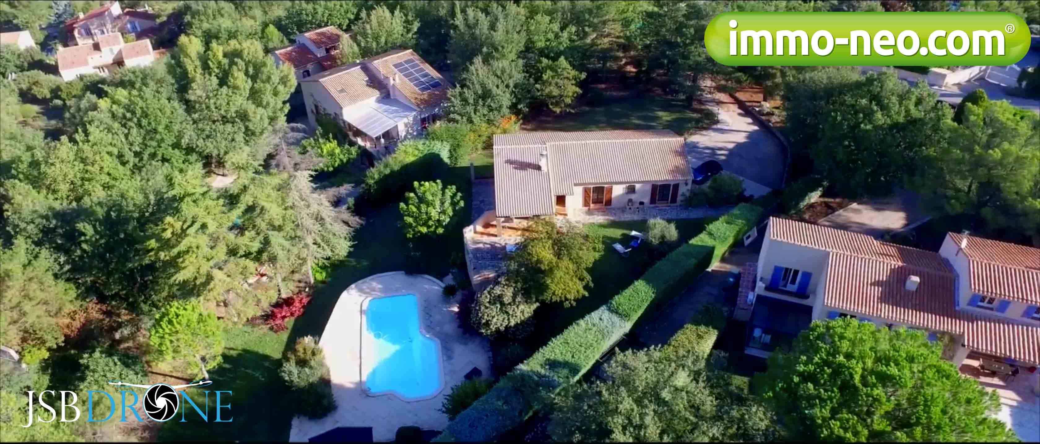 Drone vue aérienne maison Aix en Provence