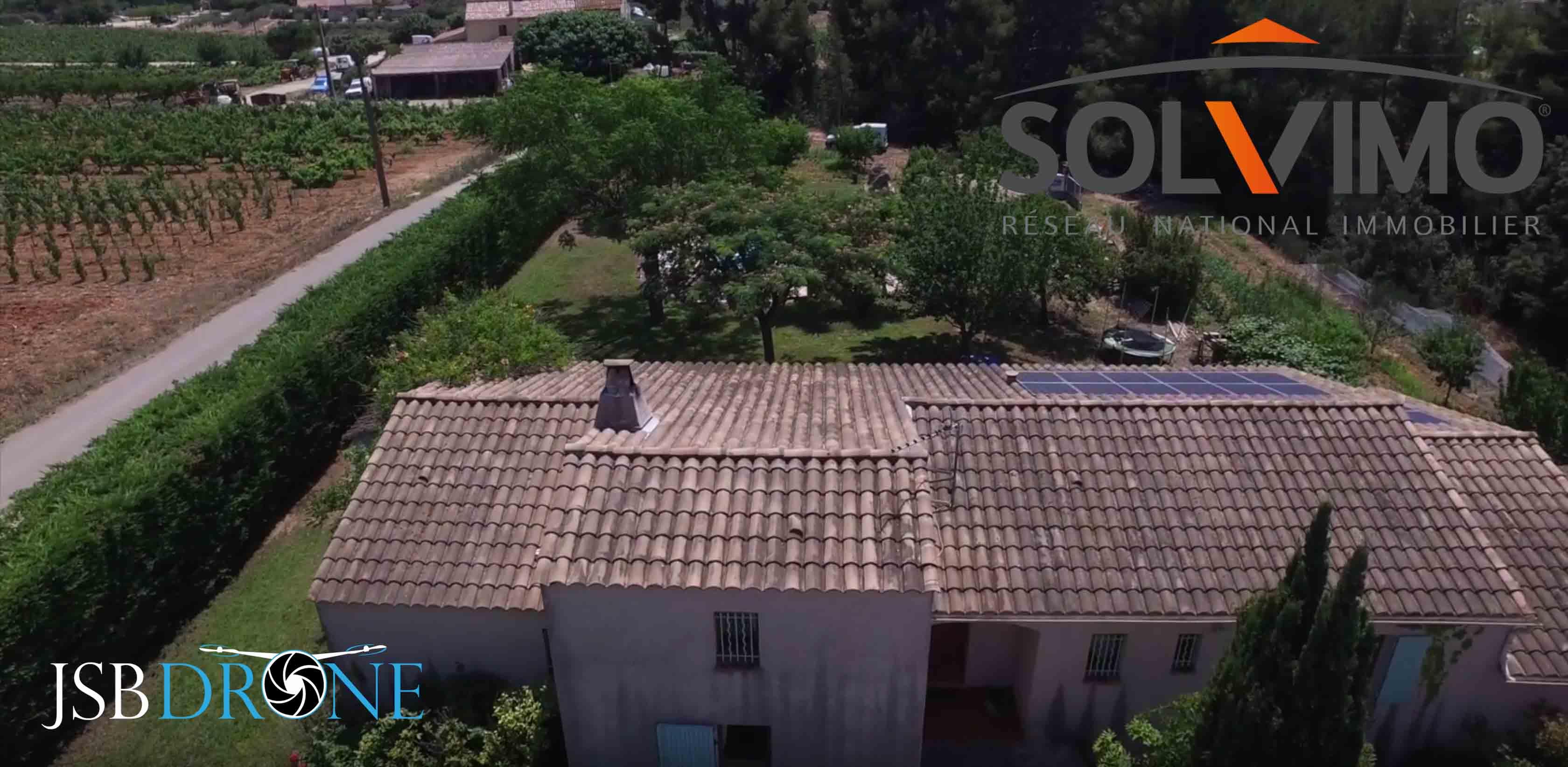 Maison T4 filmée en drone la cadière d'azur