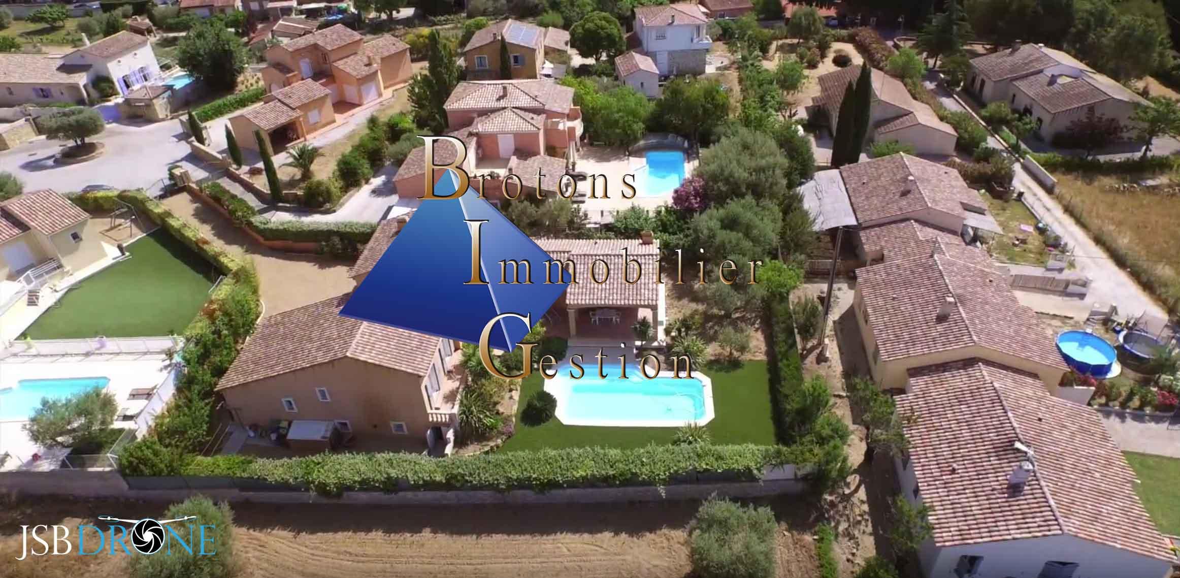 Très belle villa T6 prise de vue aérienne en drone jsb
