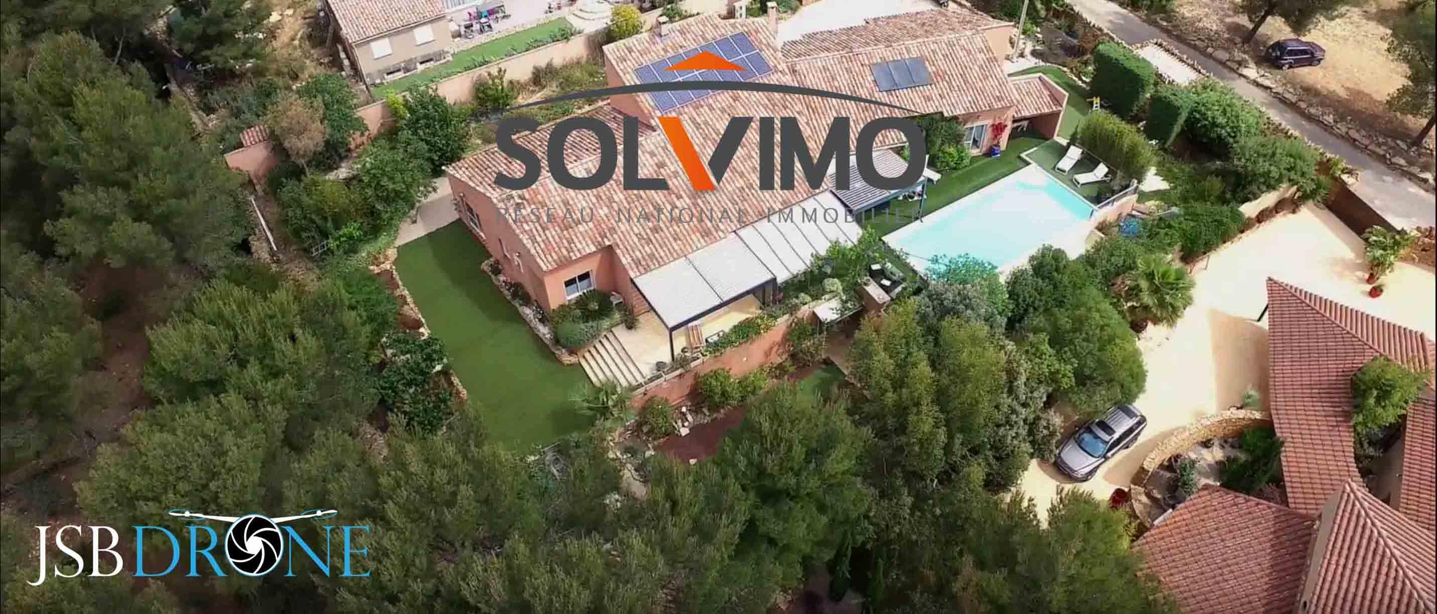 villa vue en drone la ciotat